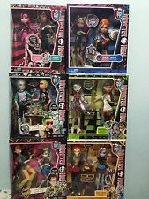 Monster High 6 Lot of 2 Pack Dolls..Clawd/Deuce/Jackson Jekyll/Cleo/Abbey/Sister