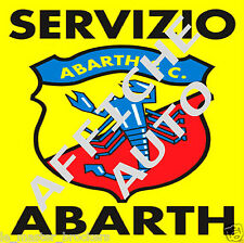 ABARTH SERVIZIO Pub déco - Reproduction de la plaque Abarth en af Affiche Poster