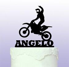 Diversión Personalizado Motocross Cake Topper