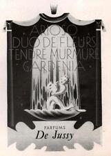 ▬► PUBLICITE ADVERTISING AD Parfum Perfume DE JUSSY arioso gardenia 1945