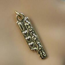 9ct gold Second hand love chocolate bar pendant