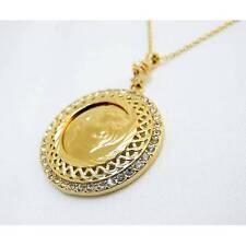 Atatürk Cerceve Ceyrek 22ayar altin kaplama Gold Münze inkl Halskette vergoldet