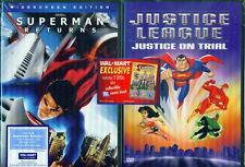 SUPERMAN Justice League on Trial-Returns NEW 2DVD+COMIC