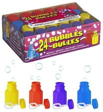 24 Partido Bubbles & Varitas (colores Surtidos tubs/loot Bolsa toys/birthday/wedding)