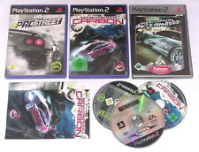 Spiele: NEED FOR SPEED PRO STREET + CARBON + MOST WANTED für Playstation 2