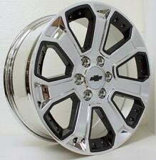 New 20 inch Chevy Silverado Z71 Tahoe Chrome with Black Inserts Wheels Rims