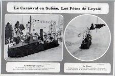 1906  --  LE CARNAVAL EN SUISSE   LES FETES DE LEYSIN    3K794