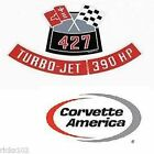 1966-1970 Corvette 427/390HP Air Cleaner Decal By Corvette America