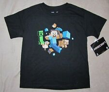 MINECRAFT Game *Friends* Blk S/S Tee T-Shirt Boys sz 10/12