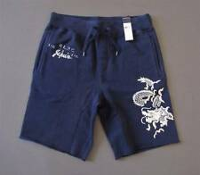 Ralph Lauren Polo Japan Embroidered Dragon Fleece Shorts Navy Blue Size M NWT