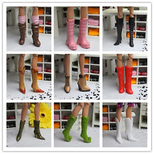 Handmade High quality Original 4 pairs boot shoes for barbie doll z100