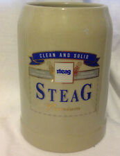 STEAG PREMIUM CLEAN AND SOLID BEER MUG GERMAN STEIN 0.5L HEAVY POTTERY EC