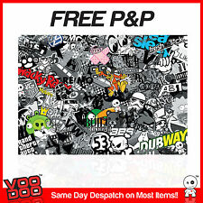 VW STICKER BOMB SHEET- (X1 A3 SIZE ) FREE P&P! (VW/EURO/DRIFT) MONOCHROME/COLOUR