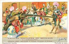 CARD IMAGE 1937 Costume Belgique Ducasse de Mons Doudou Fête Dragon Lumeçon