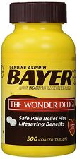 Bayer Genuine Aspirin (NSAID) Pain Reliever and Fever Reducer 325mg, 500 Tablets