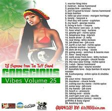 CONSCIOUS VIBES VOL 25  REGGAE ROOTS CULTURE LOVERS ROCK MIX CD