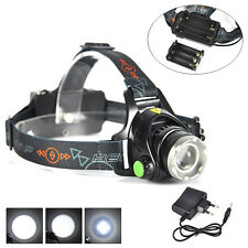 Zoomable 6000lm XML T6 Headlamp Headlight AA/18650 3Mode Head Torch Lamp+Charger