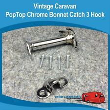 Caravan Pop Top Roof pull down 3  hook  Chrome Vintage Viscount Millard Franklin