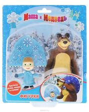 Set of 2 toys for bath Masha and the Bear -masha snegurochka -new