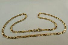 STUNNING 18CT SOLID GOLD 18 INCH FANCY ANCHOR BAR CHAIN BRITISH HALLMARK