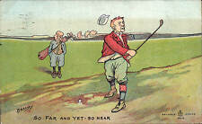 Golf Comic in Reliable Series 9313. So Near & Yet So Far by Brassey.