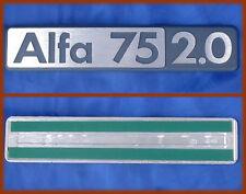 ALFA ROMEO 75 2.0 I° SERIE - SCRITTA LOGO BADGE SCRIPT