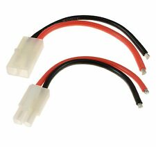 RC PAIR Male + Female Tamiya Battery Connector 14awg 10cm Wire