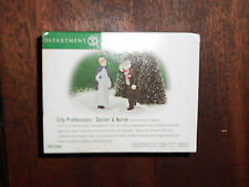 DEPT 56 CHRISTMAS IN THE CITY Accessory CITY PROFESSIONS DOCTOR & NURSE NIB Read