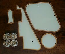 Pickguard, Back Plates,Truss Rod Cover,Knobs Fits Gibson Les Paul.Cream/Gold JAT