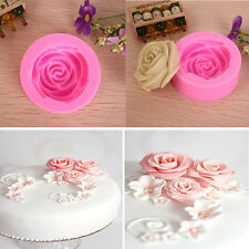Silicone 3D Rose Flower Mould Tools DIY Fondant Cake Sugarcraft Cutter