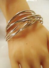 Great Looking Set of Vintage Sterling Silver Bangle Bracelets, 51.9 Grams
