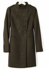 BANANA REPUBLIC $298 MILITARY MELTON LONG WOOL  COAT  M