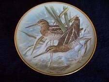 "FRANKLIN PORCELAIN GAMEBIRDS OF THE WORLD PLATE ""COMMON SNIPE"" No 59"