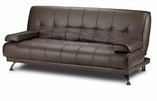 New Modern Italian Sofa Bed - Brown Faux Leather