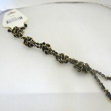 L by Elle Fashion Jewelry Knotted Fabric & Chain Keychain/Necklace: LN11020559