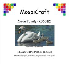 MosaiCraft Pixel Craft Mosaic Art Kit 'Swan Family' (Incl. Dove Tail Clips)