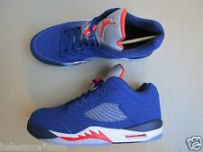 "NIKE Air Jordan 5/v Retro Low 45.5 ""scatto"" Deep Royal Blue-TEAM ORANGE-MID NAVY"