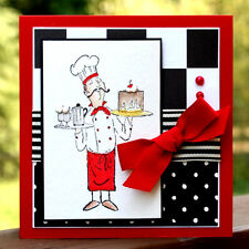 French Dessert Chef (U get photo # 2) L@@K@examples ART IMPRESSIONS RUBBER STAMP
