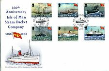 Isle Of Man Manx First Day Cover 150 Anniv IOM Steam Packet Pmk 6 May 1980