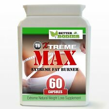 T6 Xtreme MAX Diet Pills STRONG Slimming Capsules Fat Burners Weight Loss 60 T5