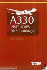 Safety Card - TAM - A330 - Red Cover - WITH Star Alliance Footer (Brazil)(S3380)