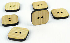 6pcs Large Wooden Buttons 30mm/Square Shape/Laser Cut/Beads/Sewing/Crafts