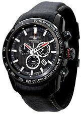 Jorg Gray JG3700-31 Mens Black Watch Swiss Chronograph Movement Black Strap