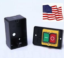 10A 380V KAO-5 Water Proof ON/OFF Push Button Machine Drill Switch Plastic Motor