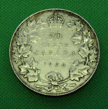 Canada 1906 50 cents silver a very nice coin Vf +
