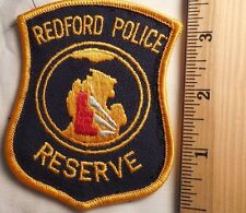 REDFORD POLICE RESERVE PATCH (HIGHWAY PATROL, SHERIFF, EMS)