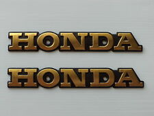 HONDA CG125 VINTAGE SIDE TANK BADGE EMBLEM METAL X 2