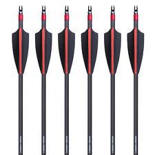 6pcs 7.6mm Archery Vane Carbon Practice Arrows Spine 340 F Compound bow