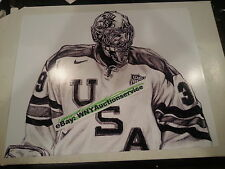 RYAN MILLER DRAWING 2010 OLYMPICS TEAM USA HOCKEY 8X10 PHOTO