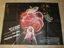 The Rose movie poster - Bette Midler poster - original uk quad - 30 x 40 inches